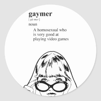 GAYMER ROUND STICKERS