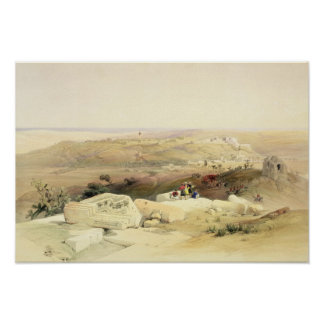Gaza, plate from Volume II of 'The Holy Land' Poster