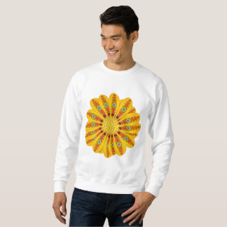 Gazania Flower Tribal Peacock Sweatshirt