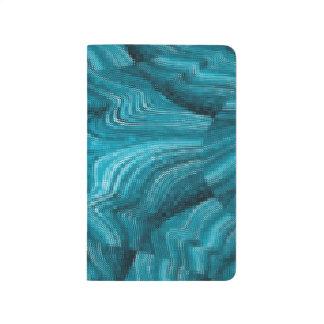 Gaze Into Bright Blue Kaleidoscopic Pocket Journal