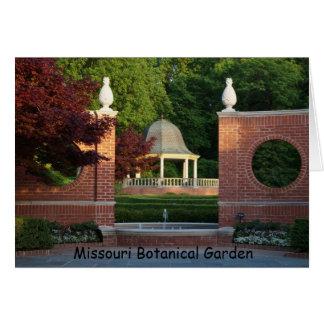 Gazebo at Missouri Botanical Garden Card