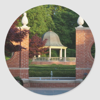 Gazebo at Missouri Botanical Garden Round Sticker