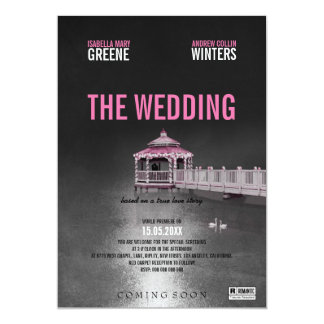 Gazebo Fuchsia Wedding 13 Cm X 18 Cm Invitation Card