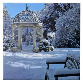Gazebo in the Snow Tile