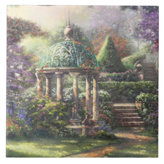 Gazebo Surrounded by Flowers Tile