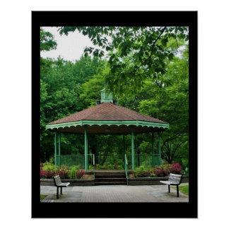 Gazebo with Benches Poster