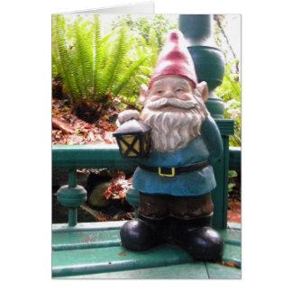 Gazeebo Gnome Greeting Card