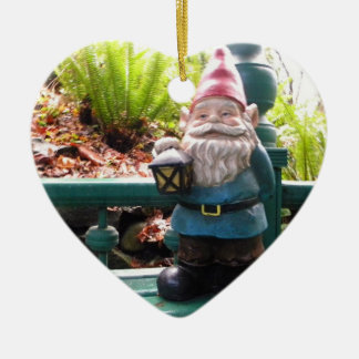Gazeebo Gnome Ceramic Heart Decoration