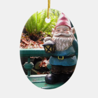 Gazeebo Gnome Ceramic Oval Decoration