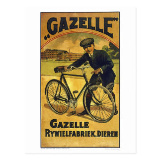 Gazelle Cycles Vintage Bicycle Poster Postcard