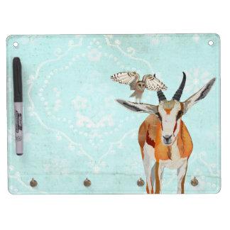 GAZELLE & OWL PORTRAIT Dry Erase Board