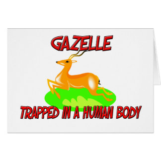Gazelle trapped in a human body greeting card