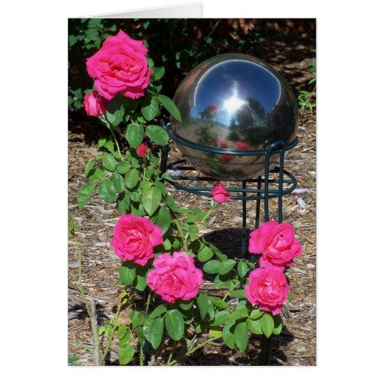 Gazing Ball&Roses Card