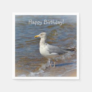 Gazing Seagull Paper Serviettes