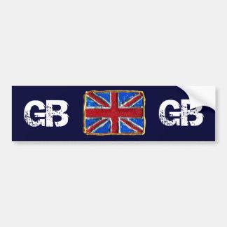 GB - British Flag Union Jack GB Bumper Stickers