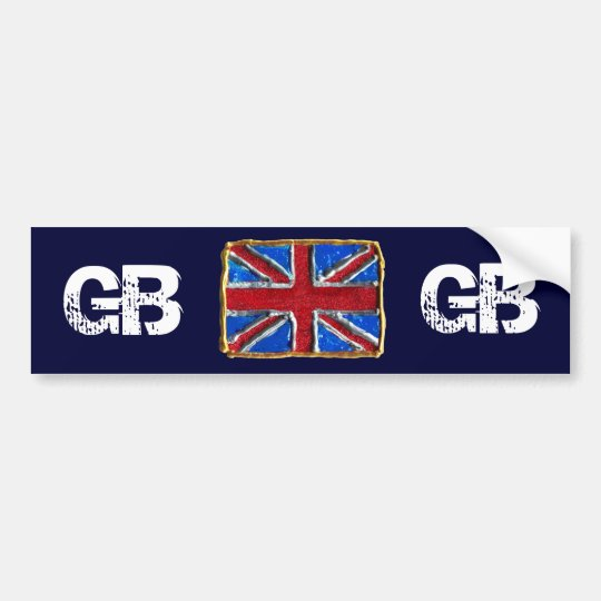 GB - British Flag Union Jack GB Bumper