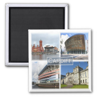 GB * Cardiff Wales Square Magnet