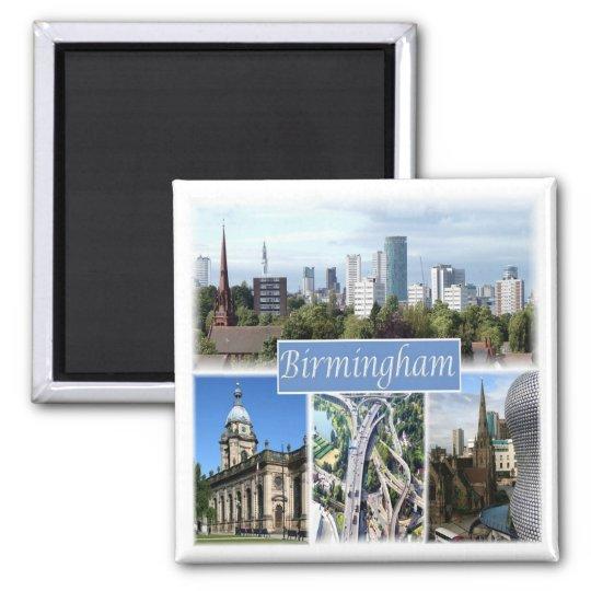 GB * England - Birmingham Square Magnet