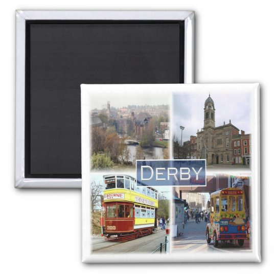 GB * England - Derby Square Magnet