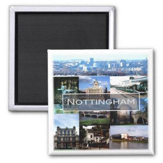 GB * England - Nottingham Square Magnet