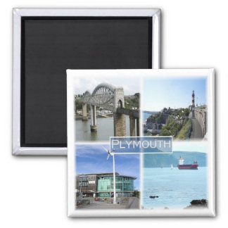 GB * England - Plymouth Devon Square Magnet