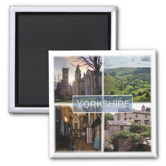 GB * England - Yorkshire Square Magnet