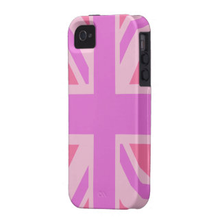 GB Flag (Union Jack) in shocking pink iphone iPhone 4/4S Case