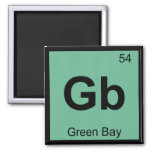 Gb - Green Bay Wisconsin Chemistry Periodic Table Magnets