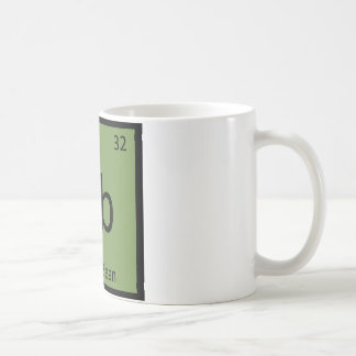 Gb - Green Bean Vegetable Chemistry Periodic Table Coffee Mugs