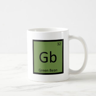 Gb - Green Bean Vegetable Chemistry Periodic Table Mugs