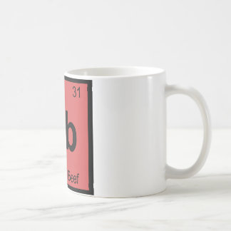 Gb - Ground Beef Chemistry Periodic Table Symbol Mugs