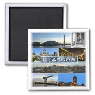 GB * Scotland Glasgow Square Magnet