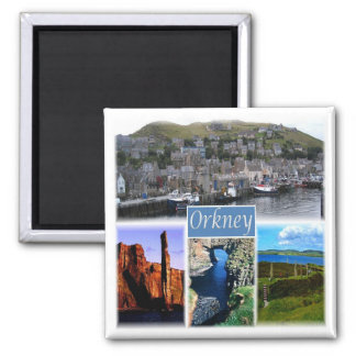 GB * Scotland - The Orkney Islands Orkneys Square Magnet