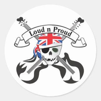 GB Scull & Guitars Sticker