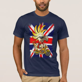 GB T Shirt, Union Jack T Shirt With Cockatoo