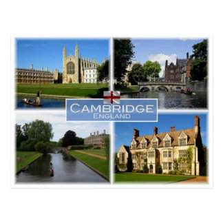 GB United Kingdom - England - Cambridge - Postcard