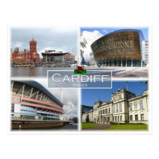 GB United Kingdom - Wales - Cardiff - Postcard