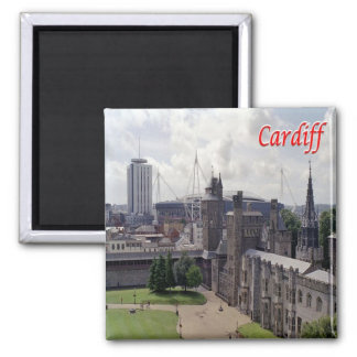 GB - Welsh - Cardiff Square Magnet
