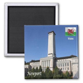 GB - Welsh - Newport Square Magnet