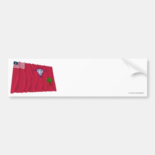 Gbarpolu County Waving Flag Bumper Sticker