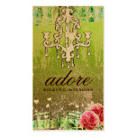 GC Adore Vintage Lime Gold Metallic Pack Of Standard Business Cards