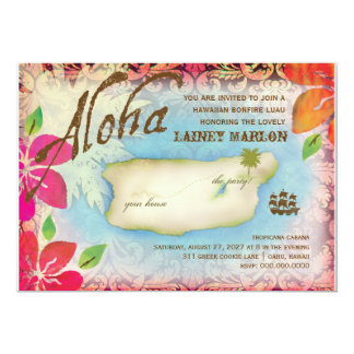 Gc | Aloha Luau Island 13 Cm X 18 Cm Invitation Card