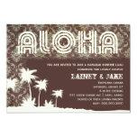 GC Aloha Luau Palm Pier 5x7 Paper Invitation Card