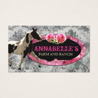 "GC | ""AnnaBelles"" Horse Ranch Black | Vintage Grey Business Card"