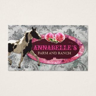 "GC ""AnnaBelles"" Horse Ranch Vintage Grey Business Card"