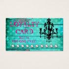 GC Aqua Vintage Wood Loyalty Card