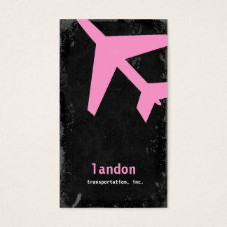 GC | AVIATION TAKE OFF PINK! BUSINESS CARD