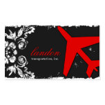 GC AVIATION TAKE OFF Red Charcoal Damask