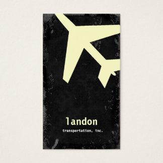 GC | AVIATION TAKE OFF YELLOW BUSINESS CARD
