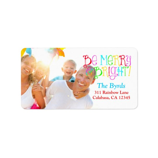 GC Be Merry & Bright Christmas Label Address Label